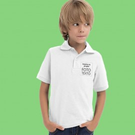 camiseta polo niño